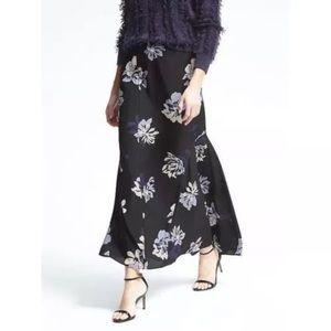 Banana Republic Skirts - Banana republic black floral maxi skirt with